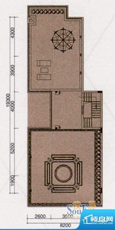 尚东领御户型图A户型309㎡顶层面积:158.00平米
