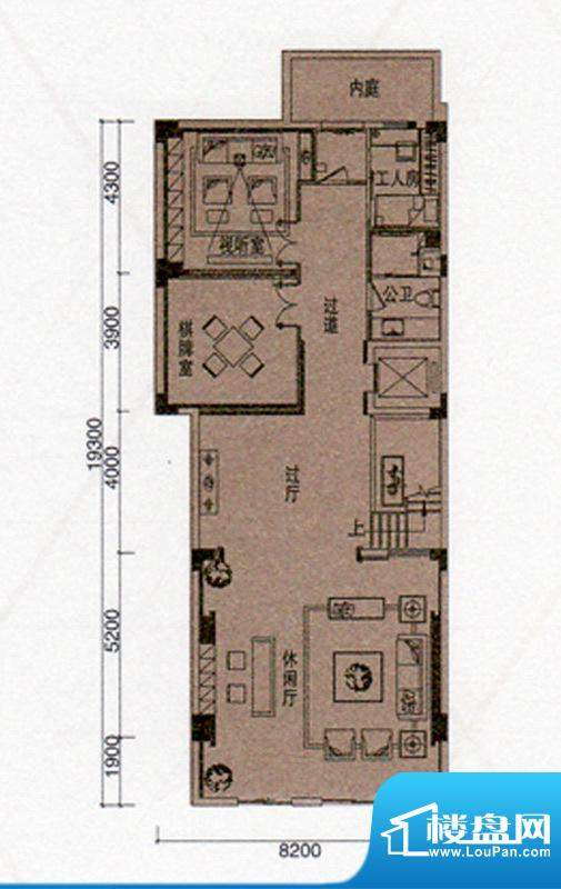 尚东领御户型图A户型309㎡阳光面积:153.00平米