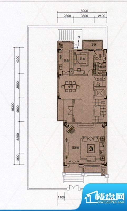 尚东领御户型图A户型309㎡首层面积:153.00平米