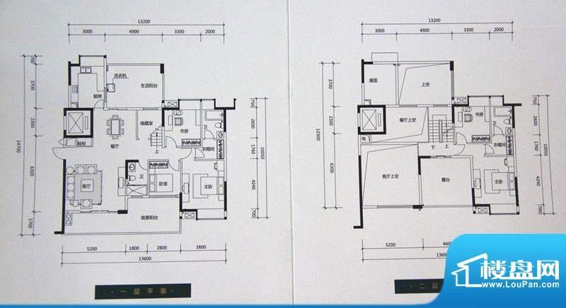 中珠九悦户型图C户型 5室2厅3卫面积:209.00平米