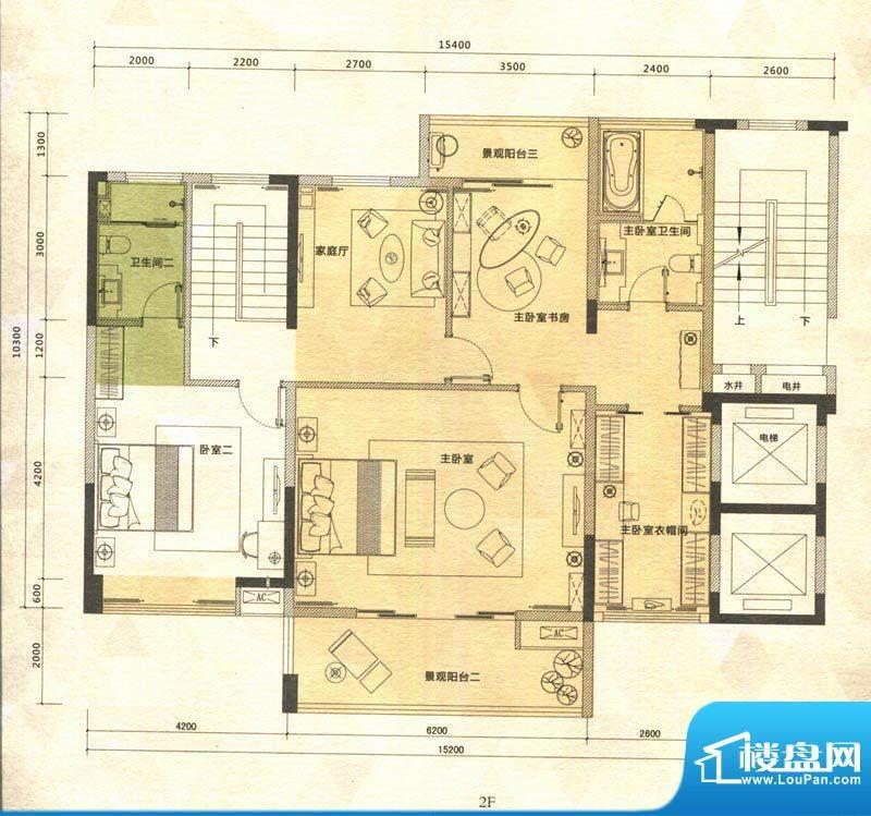 铭泰锦山户型图叠嶂轩二栋一单面积:168.01平米