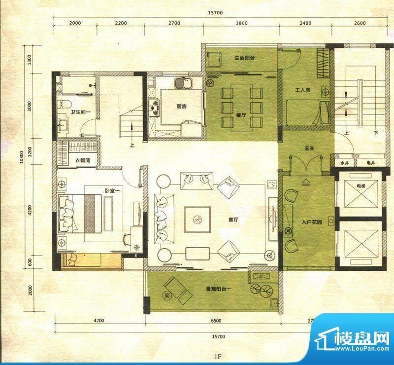 铭泰锦山户型图叠嶂轩二栋二单面积:202.56平米