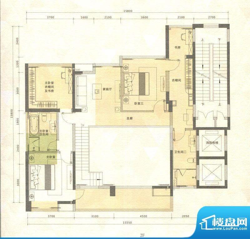 铭泰锦山户型图叠翠轩三栋、四面积:169.51平米