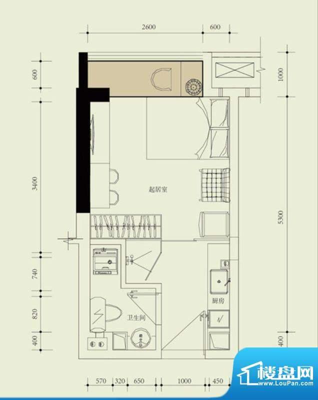 国子间户型图G户型(20/21房)面积:27.73平米