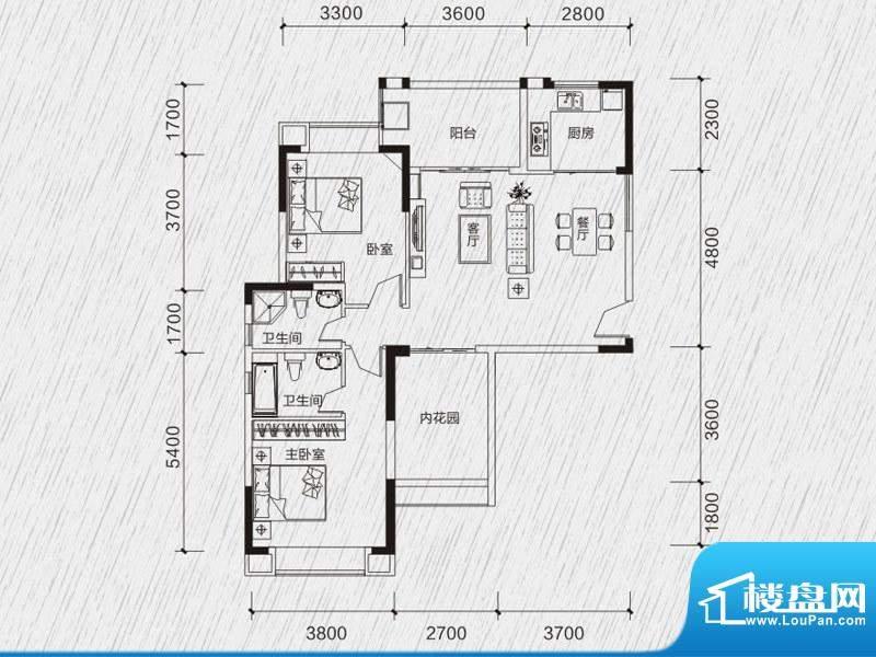 龙凤春晓户型图3、4栋03、04房面积:105.41平米