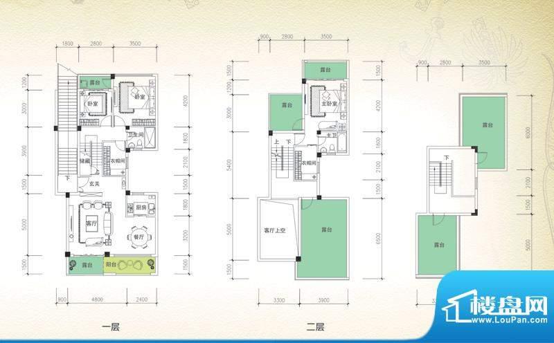 岭峰国际户型图C-3a 3室2厅3卫面积:162.51平米