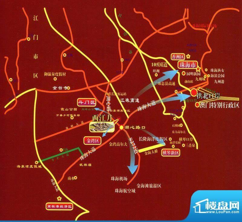 西江月交通图