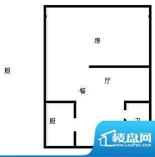 西江月 1室 户型图面积:45.00平米