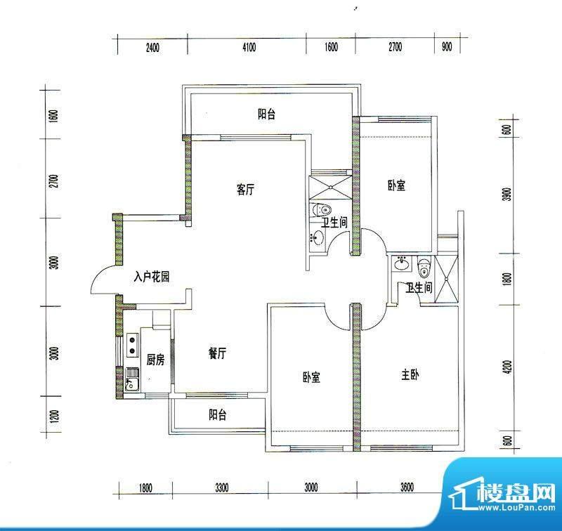 诚丰星座户型图A10户型 3室2厅面积:128.84平米