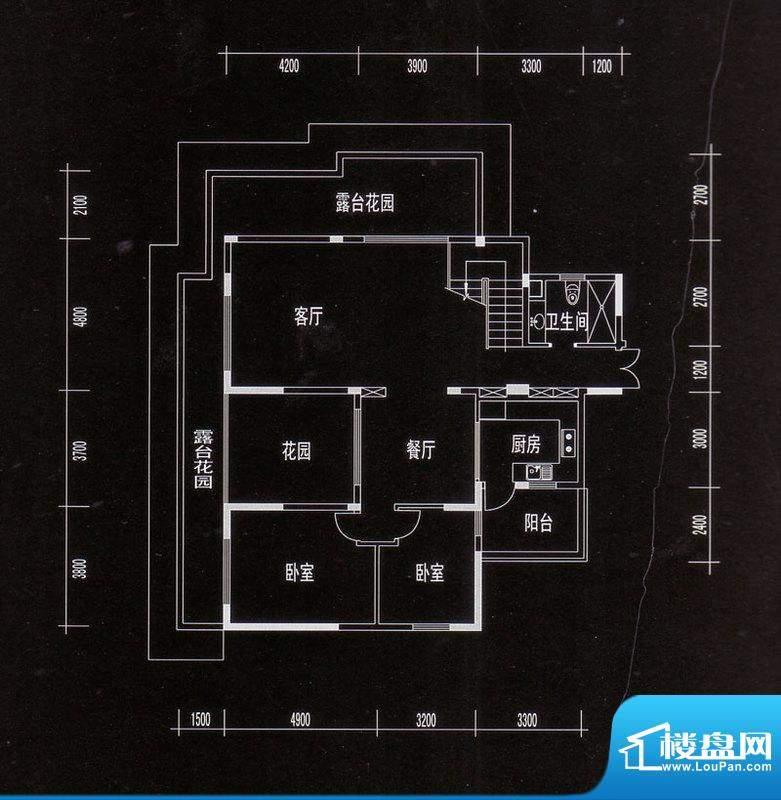 诚丰星座户型图A12复式一层 4室面积:274.82平米