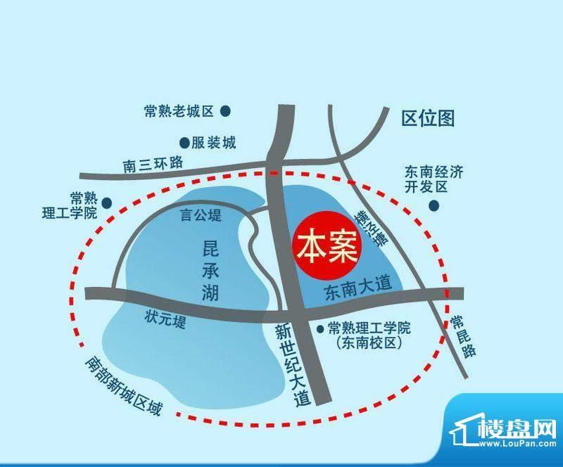 昆承湖国际花园交通图