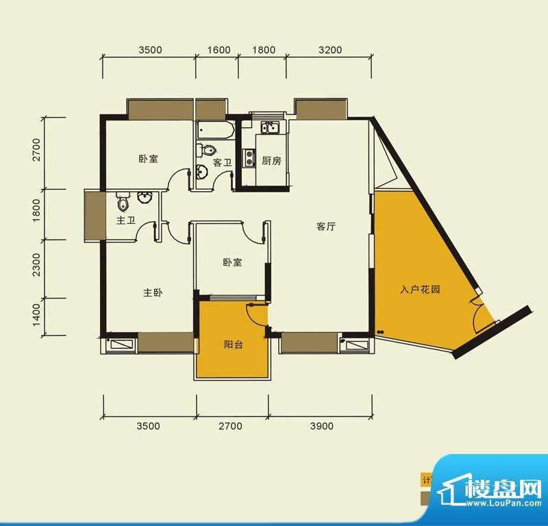 宁海世纪城户型图二期蓝海湾6栋面积:118.00平米