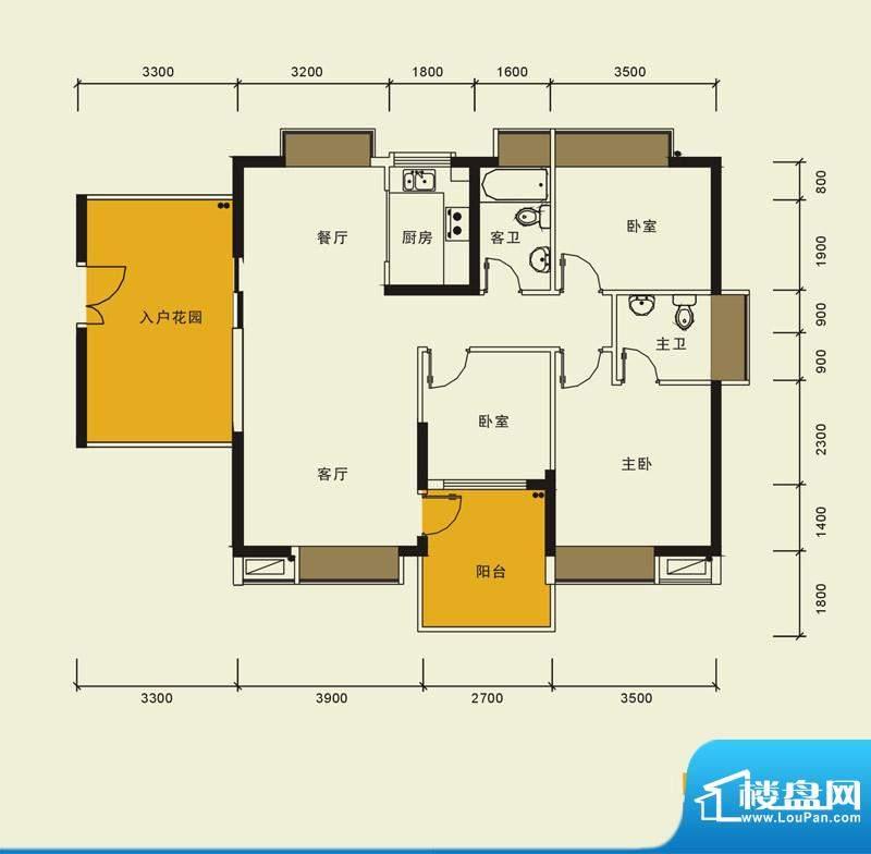 宁海世纪城户型图二期蓝海湾6栋面积:116.00平米