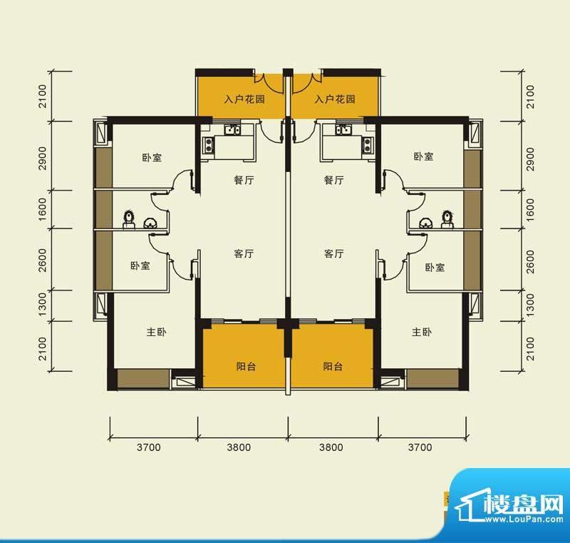 宁海世纪城户型图二期蓝海湾6栋面积:101.00平米