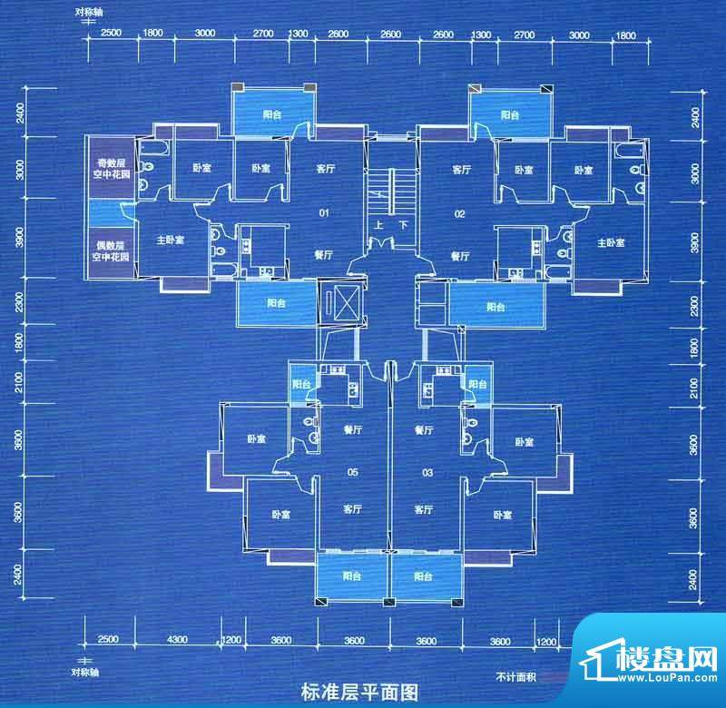 宁海世纪城户型图二期蓝海湾1栋面积:83.67平米
