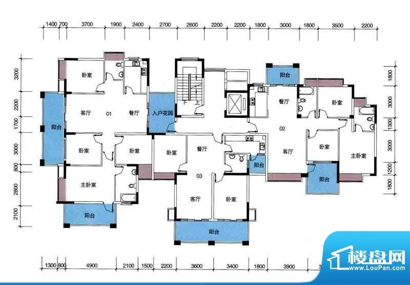 宁海世纪城户型图二期蓝海湾2栋面积:120.49平米