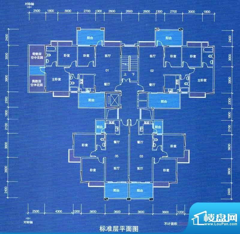宁海世纪城户型图二期蓝海湾1栋面积:108.44平米
