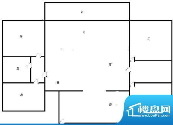 世纪名城 3室 户型图面积:134.00平米