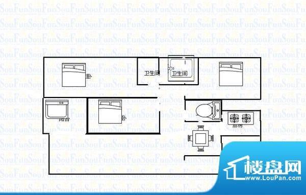 世纪名城 4室 户型图面积:135.00平米