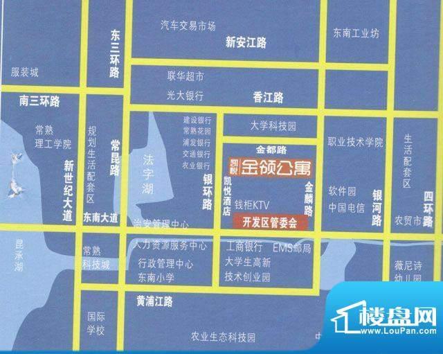 凯悦金领公寓交通图