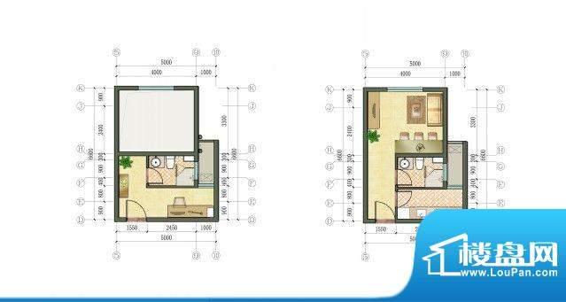 凯悦金领公寓户型图D户型