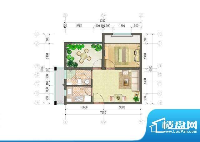凯悦金领公寓户型图C户型
