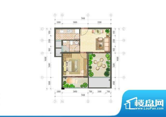 凯悦金领公寓户型图B户型