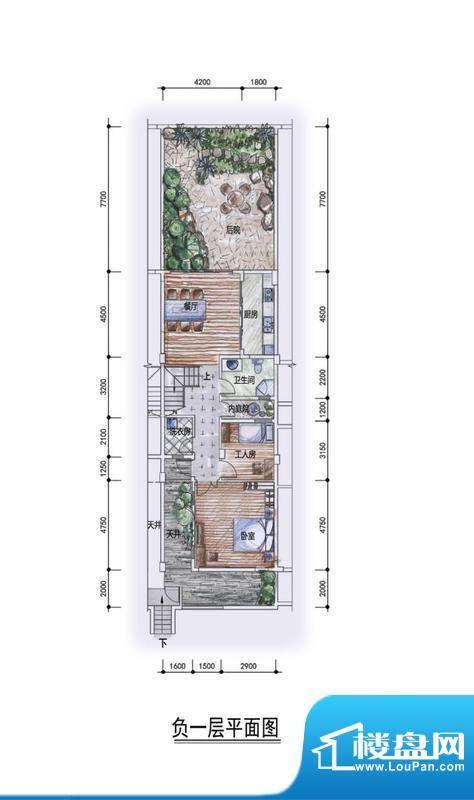 东方墅户型图F1型负一层户型图面积:292.00平米