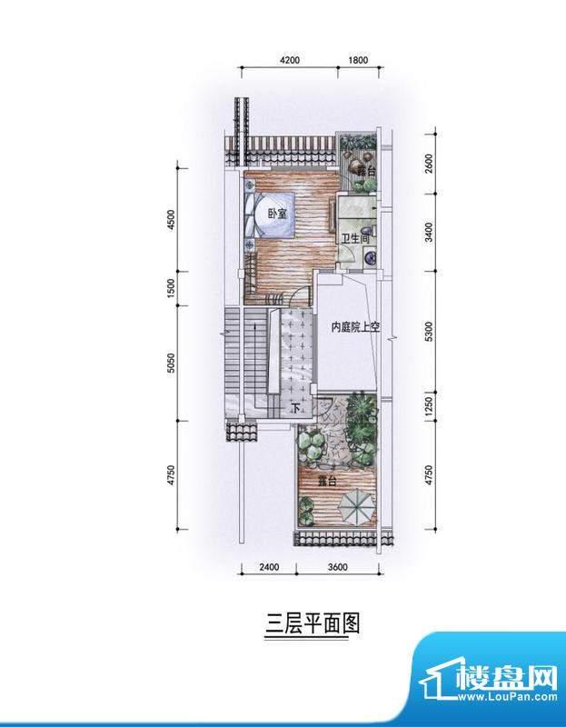 东方墅户型图F1型三层户型图 1面积:292.00平米
