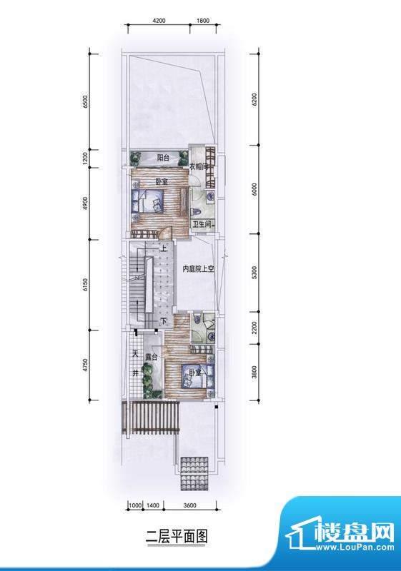 东方墅户型图F1户型二层户型图面积:292.00平米