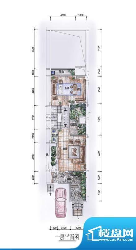 东方墅户型图F1型一层户型图 1面积:292.00平米