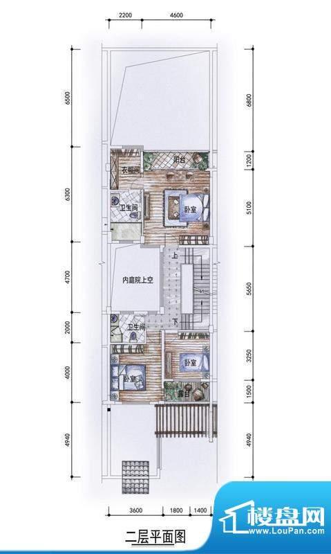 东方墅户型图G2户型二层户型图面积:327.00平米