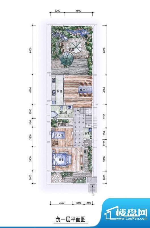 东方墅户型图G2户型负一层户型面积:327.00平米