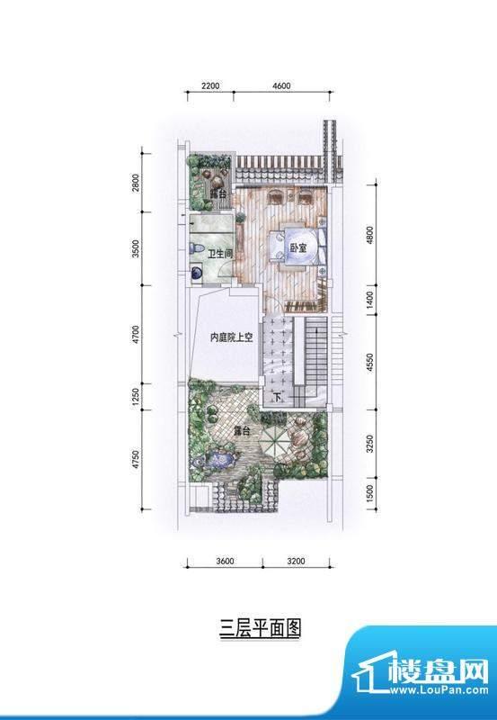 东方墅户型图G2户型三层户型图面积:327.00平米