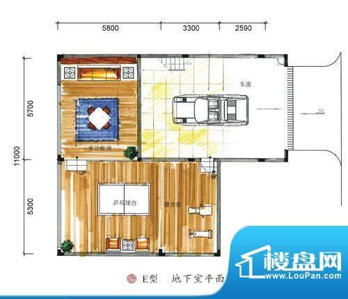 东方墅户型图E型地下室户型图 面积:387.00平米