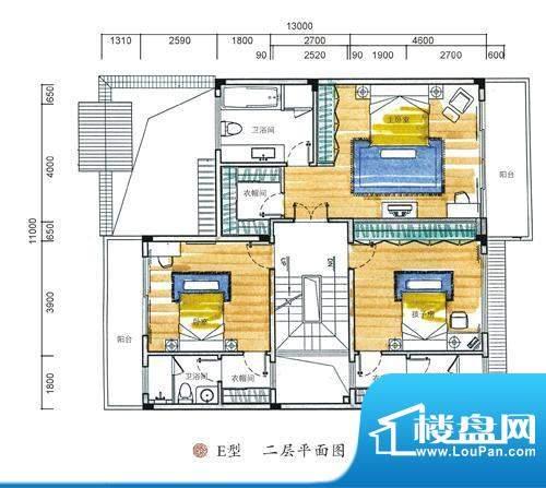 东方墅户型图E型二层户型图 5室面积:387.00平米