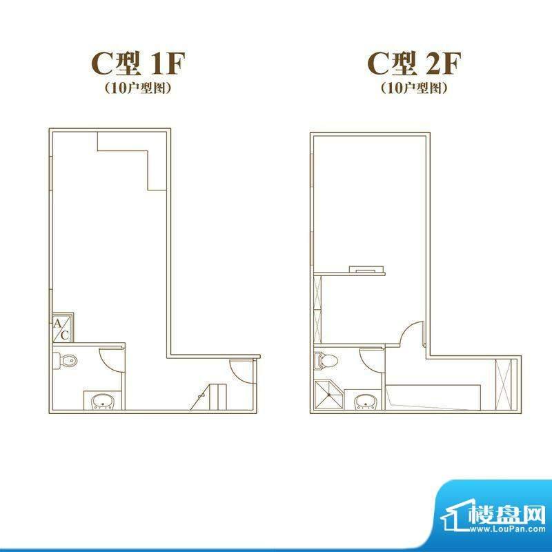 常汇生活广场户型图C户型10室号面积:41.40平米