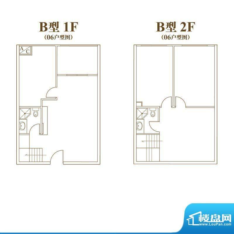常汇生活广场户型图B户型06室号面积:73.30平米