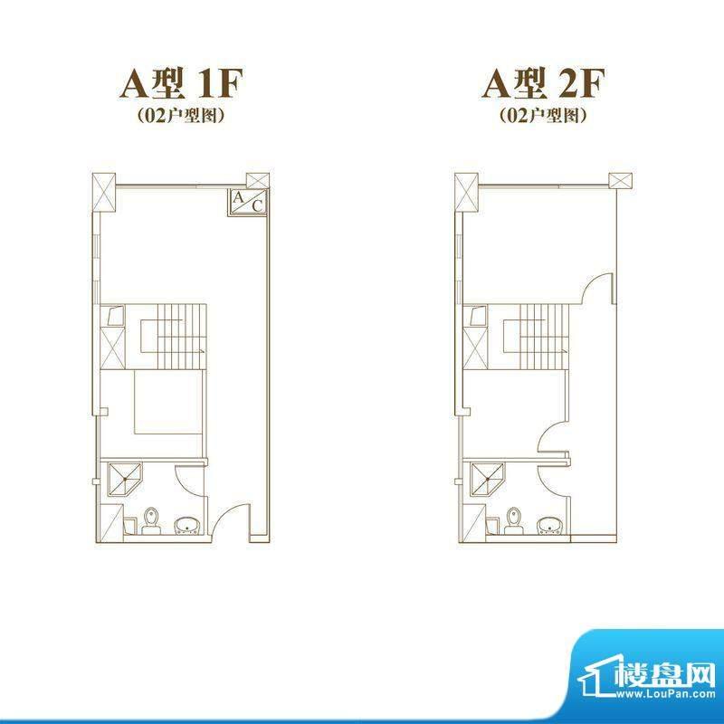 常汇生活广场户型图A户型02室号面积:47.77平米