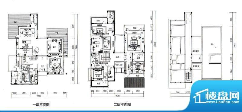 华发水郡户型图V9户型(独栋)面积:598.00平米