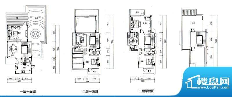 华发水郡户型图V10户型(独栋)面积:598.00平米