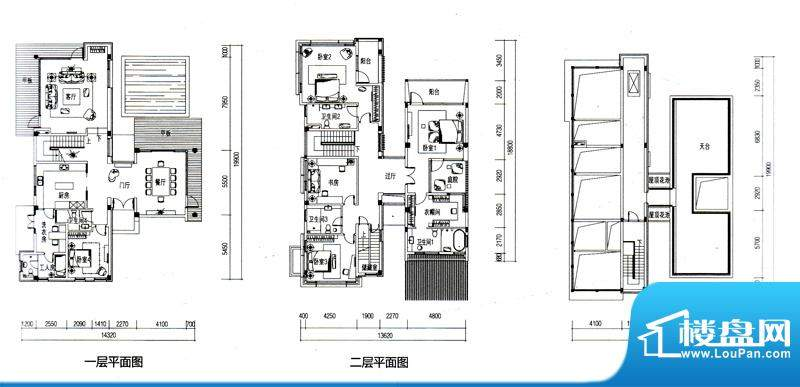 华发水郡户型图V2户型(独栋)面积:357.98平米