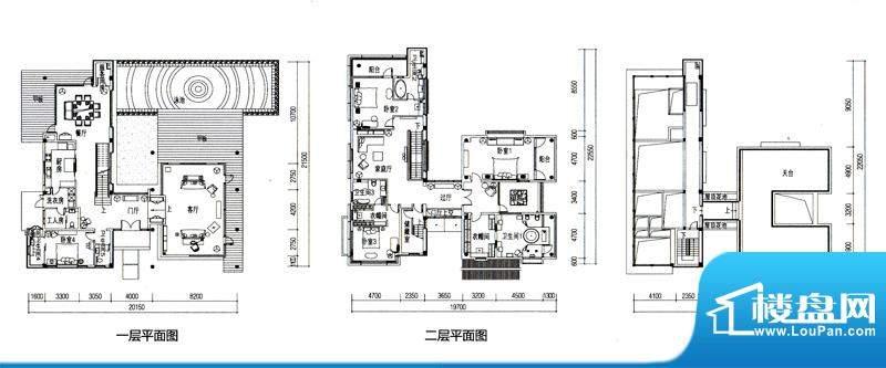 华发水郡户型图V4户型(独栋)面积:490.48平米