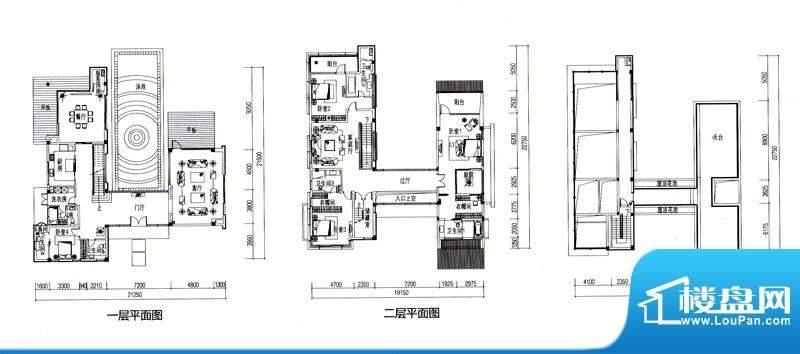 华发水郡户型图V5户型(独栋)面积:460.73平米