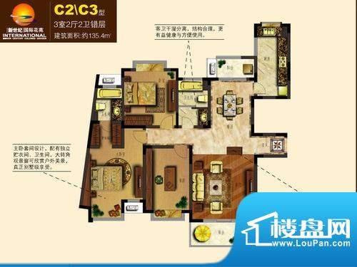 新世纪绿树湾户型图C2C3
