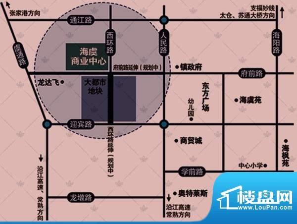 海虞商业中心交通图