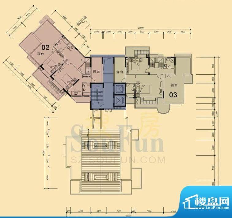 旭日华庭户型图5号楼17层复式上面积:229.00平米