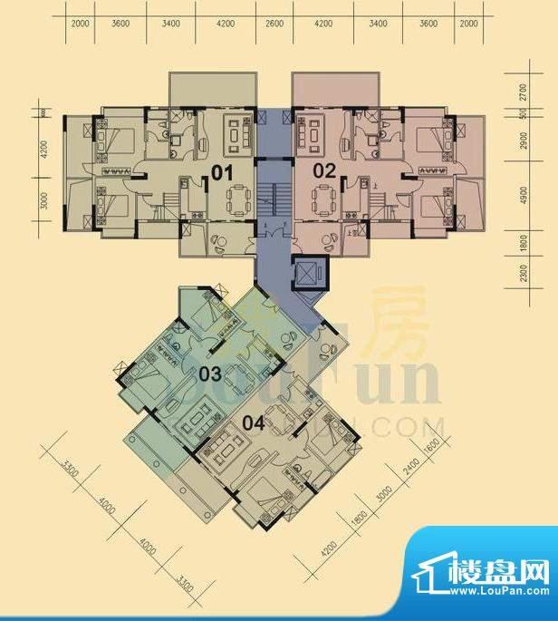 旭日华庭户型图2号楼11层复式下面积:180.00平米