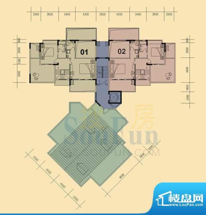 旭日华庭户型图2号楼11层复式上面积:180.00平米