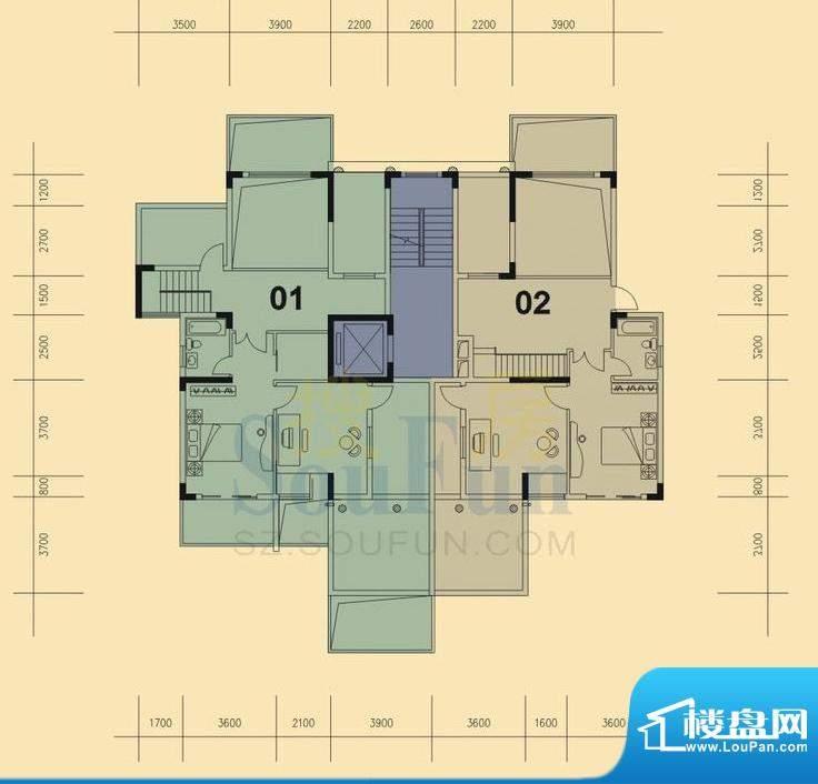 旭日华庭户型图1号楼9层复式上面积:174.00平米